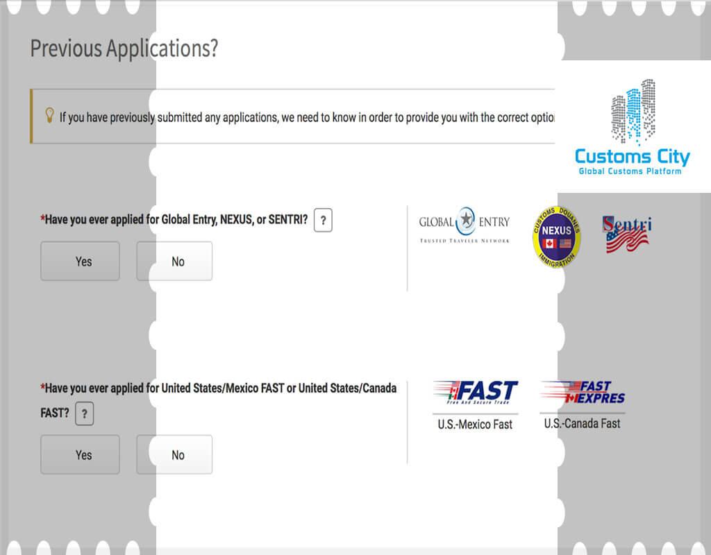 CBP login FAST Global Entry Sentri Nexus TSA Pre✓® Trusted Traveler Program CBP Customs & Border Protection